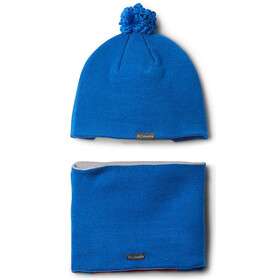 Columbia Snow More Hattu- & kaulaliinasarja Pikkulapset, super blue fox